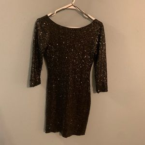 Gianni Bono Black Sequin Dress